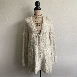 BY TOGETHER Grandpa Cardigan Oatmeal Knit Sweater